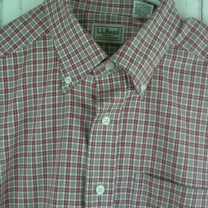 L.L Bean Size Med. Button Front Short Sleeve Shirt